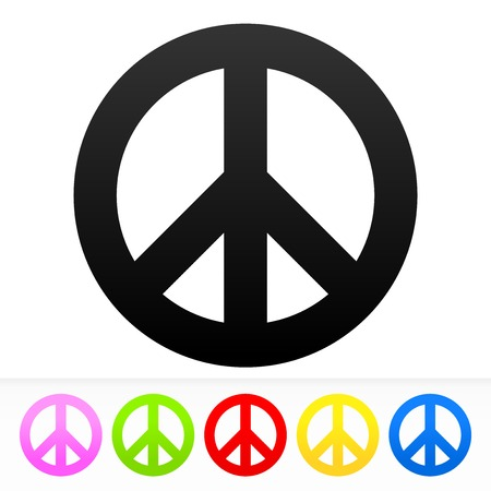 peace and love: Hippie Peace Symbol