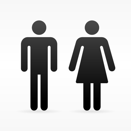 Female and Male symbol Иллюстрация