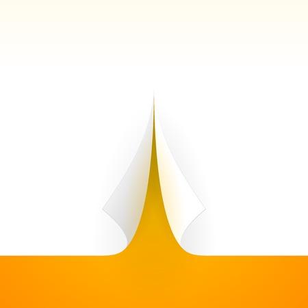 Bent Paper Template Vector