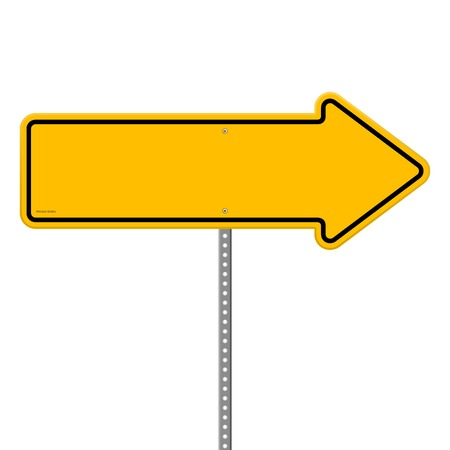 Yellow Direction Sign Illustration