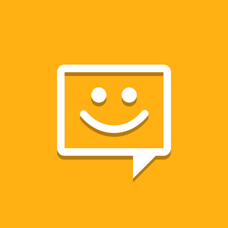 iconography: Happy Chat Icon Illustration