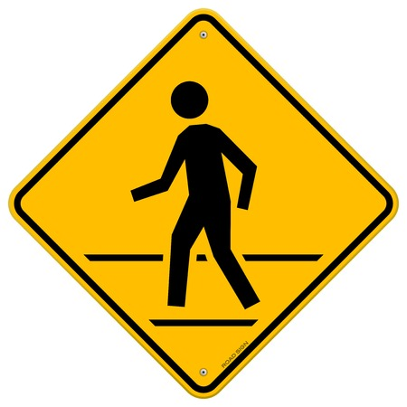 cross: Pedestrian Traffic Sign