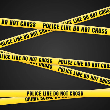 Criminal Scene Yellow Line Vector