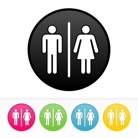 public toilet: Bathroom Symbol Illustration