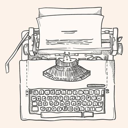 typewriter: Vintage Typewriter Illustration