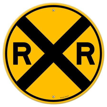 Yellow Rail Sign Illustration