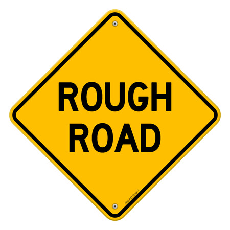 se�ales de seguridad: Rough Advertencia carretera