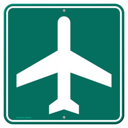 airplane travel: Airplane Travel Sign Illustration