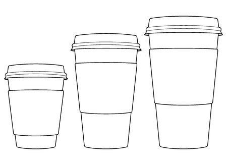 coffee cups: paper coffee cups