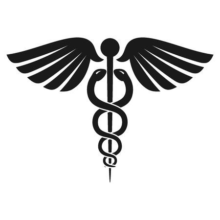 醫療保健: 健康眾神使者的手杖符號