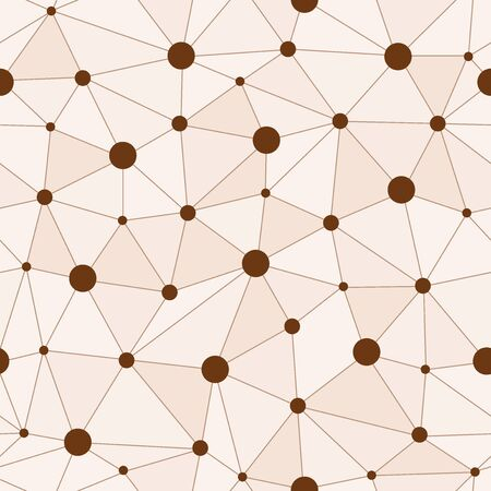 variance: Atomic Background with Interconnected Brown Dots Illustration