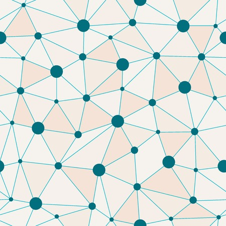 related: Atomic Background with Blue Dots Interconnected