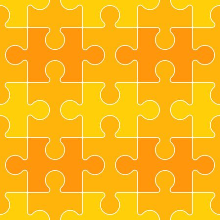 interconnected: Interconnected Yellow Puzzle Piece Background