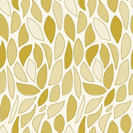 Illustrated brown leaf shapes in seamless background pattern