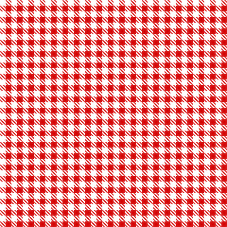Red Table Cloth Seamless Pattern Çizim