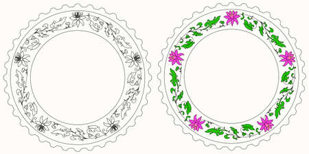 copy center: Copy space in the center of round pattern Illustration