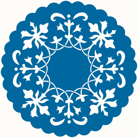 christmas motif: Pattern for mat or lace Illustration