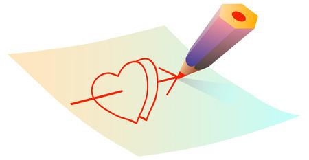 lovelorn: Fall in love. Arrow shoot to the hearts.