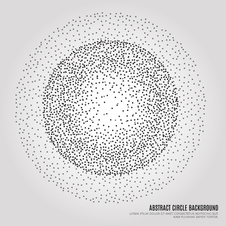 Filaire sphère de point de vecteur polygonal de maillage 3D. Point de réseau ou cellule, sphère de conception, illustration de point et de structure