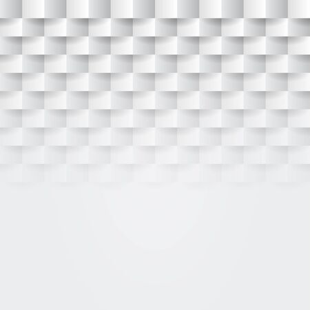 Abstract white paper origami 3d geometric background. Whiten seamless texture with shadow. Simple clean blank background texture. Vector minimalistic paper background