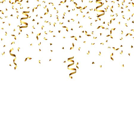 Golden explosion of confetti, glitter texture. Golden grainy abstract texture on a black transparent background. Design element. Vector illustration,eps 10. Vector Illustratie