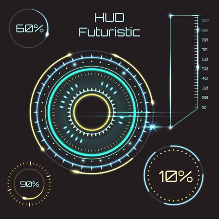 Futuristic graphic user interface. Abstract future, concept vector futuristic blue virtual graphic touch user interface HUD