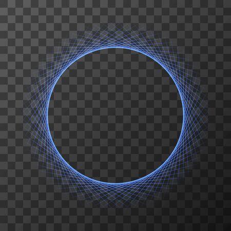 Circle of life . Sacred Geometry on transparent background. Vector Illustration. EPS 10.