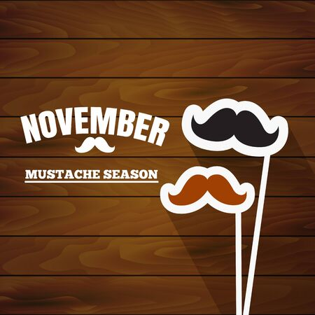November, mustache season. Fake mustache for carnival in november Banque d'images - 149593866