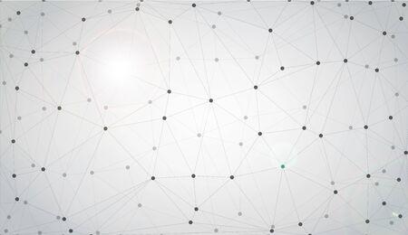 Graue grafische Hintergrundpunkte mit Verbindungen für Ihr Design. Vektor-Illustration