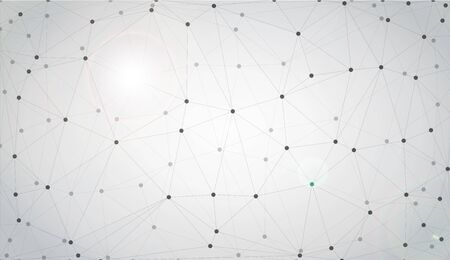Grey graphic background dots with connections for your design. Vector illustration
