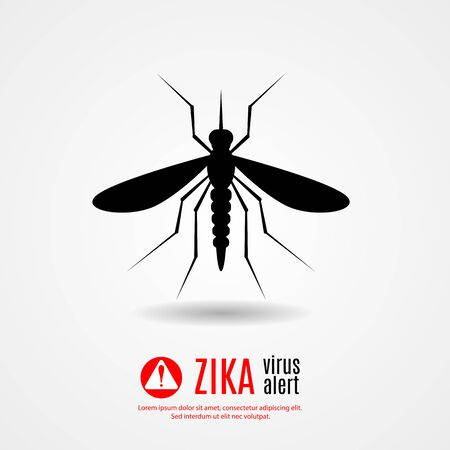 Nature, Aedes Aegypti mosquitoes with stilt target. sights signal. Ideal for informational and institutional related sanitation and care - stock vector.