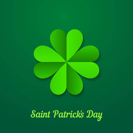 St. Patrick day background with green clover