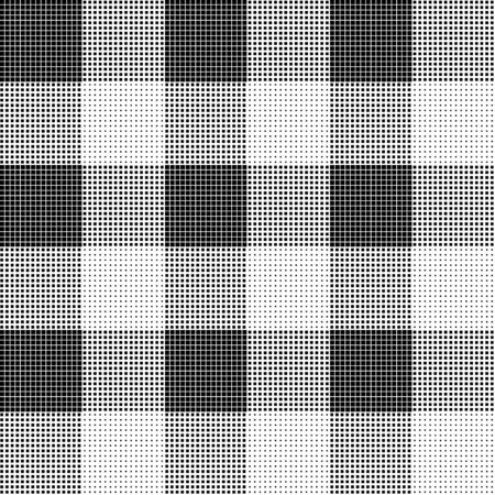 Abstract Halftone Background, square seamless illustration. Rhombus geometric seamless pattern. Vettoriali