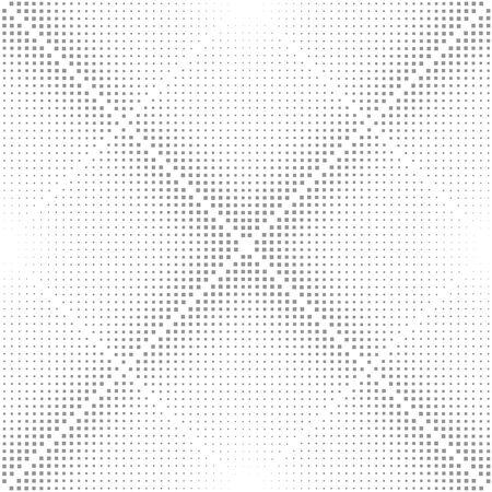 Abstract Halftone Background, square illustration. Rhombus geometric seamless pattern Illustration