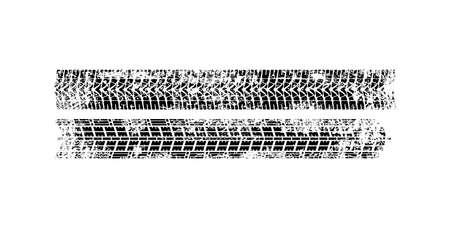 Vector Print Textured Tire Track . Design Element .Bike thread silhouette. Vector illustration