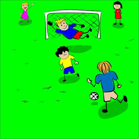 children at play: Children play football