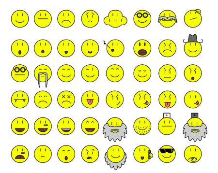 simple yellow smilies Illustration