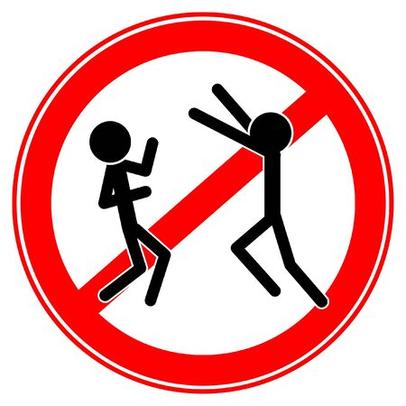 sign no pranks stick vector cartoon funny Standard-Bild - 131975454