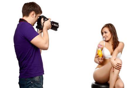 fashion shoot: Photographer at work