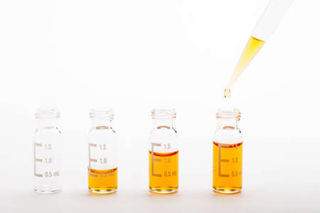 analytical chemistry: Chemical research - sample preparation Stock Photo
