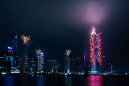 The 2012 New Year Celebration in Hong Kong Stock Photo