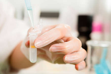 DNA sample preparation  researcher