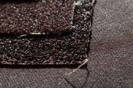 abrasive: Abrasive materials - sheets of sandpaper close-up