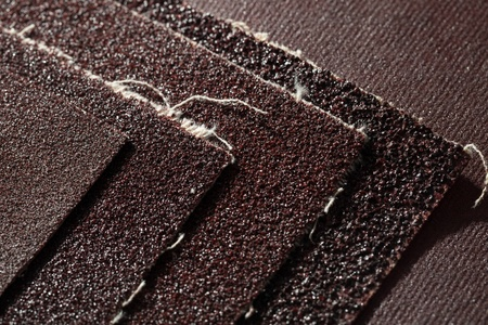 sandpaper: Abrasive materials - sheets of sandpaper close-up