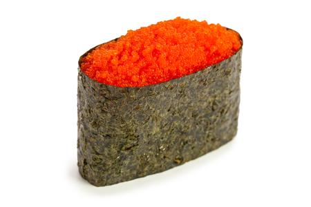 Tobiko Gunkan maki sushi stuffed with flying fish caviar