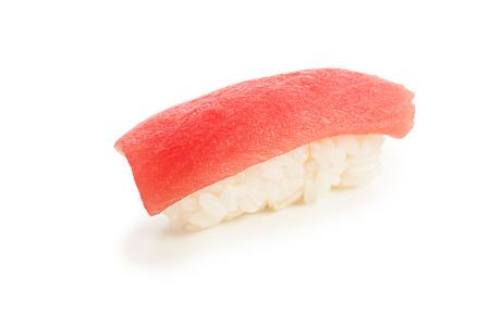 single served maguro nigiri sushi made of tuna - isolated Stock Photo