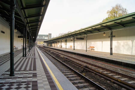canopy: station on the railroad with a canopy