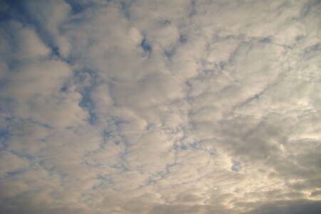 cirrus: light cirrus clouds against a blue sky Stock Photo