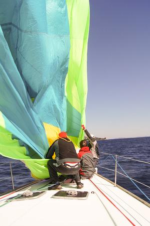 deportes nauticos: No intento muy exitoso para atrapar el viento
