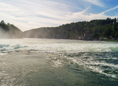 no body: whirlpools in the river after the rapids Stock Photo